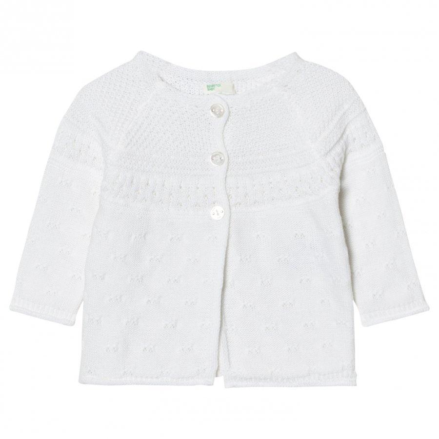 United Colors Of Benetton Knit Cardigan White Neuletakki