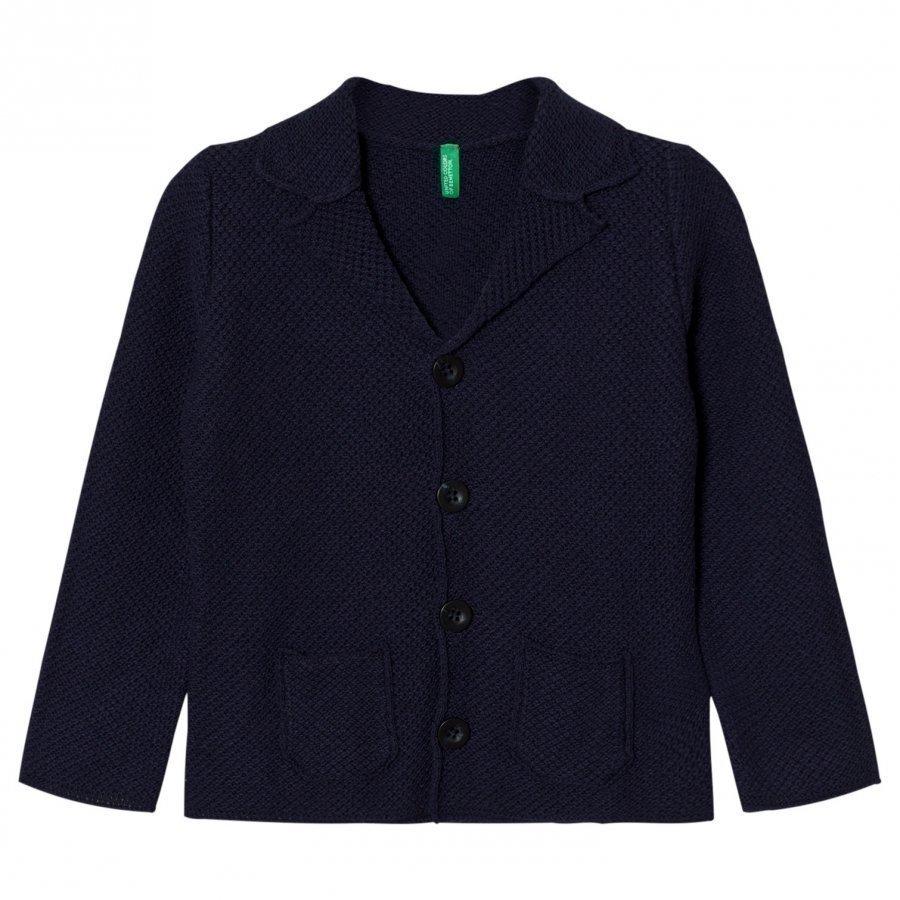 United Colors Of Benetton Knitted Cardigan Jacket Navy Neuletakki