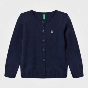 United Colors Of Benetton Knitted Cardigan With Sparkling Logo Navy Neuletakki
