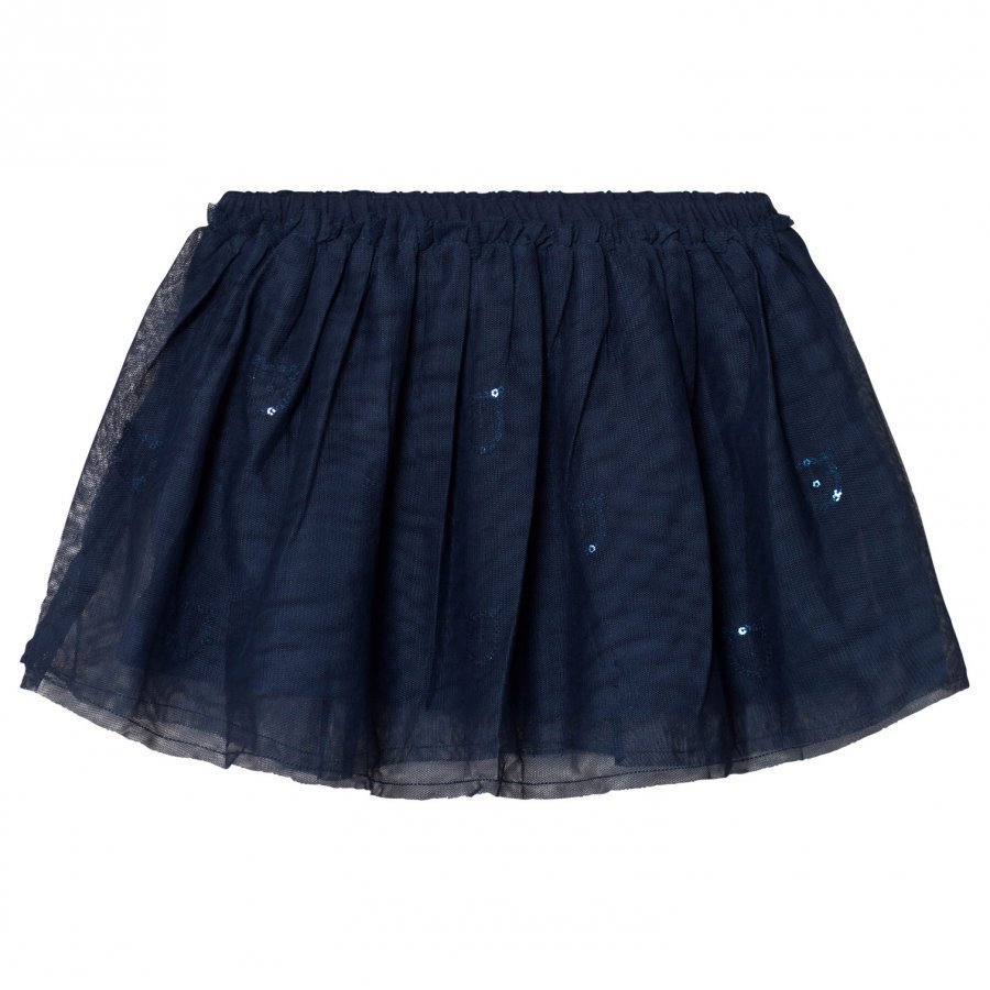 United Colors Of Benetton Layered Tulle Skirt With Glitter Cats Navy Tyllihame