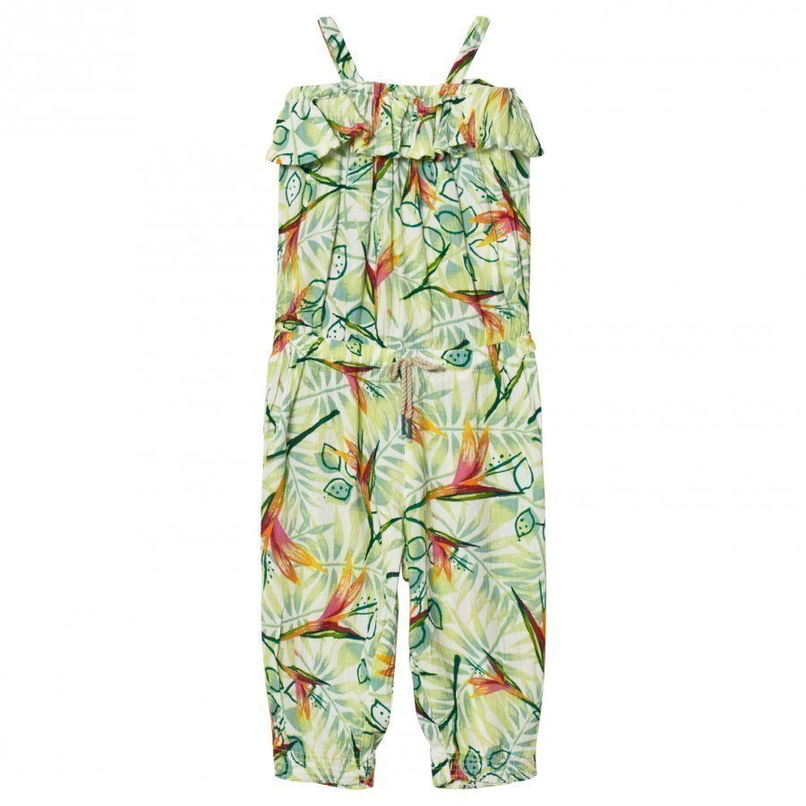 United Colors Of Benetton Leaf Print Muslin Jumpsuit Potkupuku
