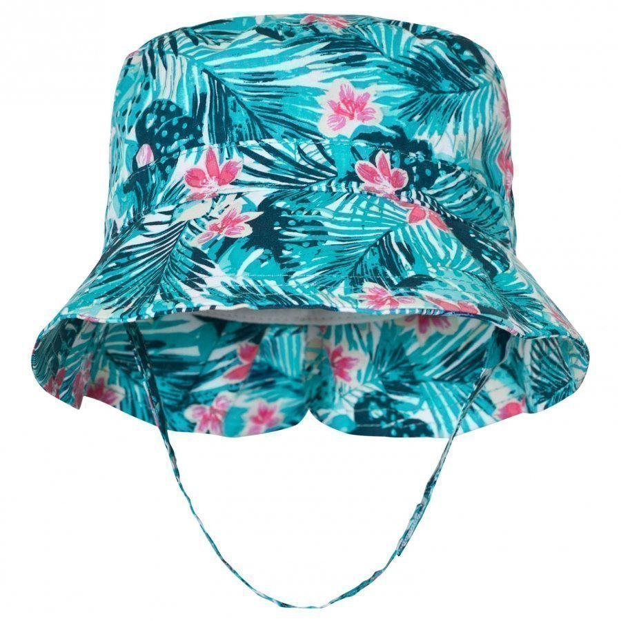 United Colors Of Benetton Leaf Print Sun Hat With Chin Strap Aurinkohattu