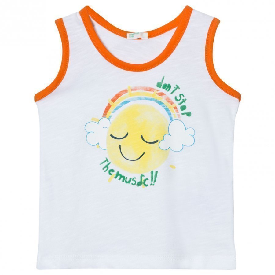 United Colors Of Benetton Music Print Tank Top White Liivi