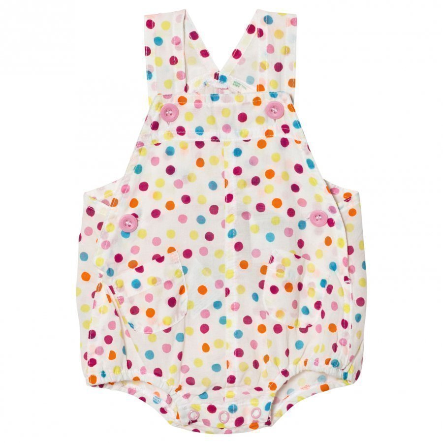 United Colors Of Benetton Polka Dot Print Cotton Dunargee White Lappuhaalari