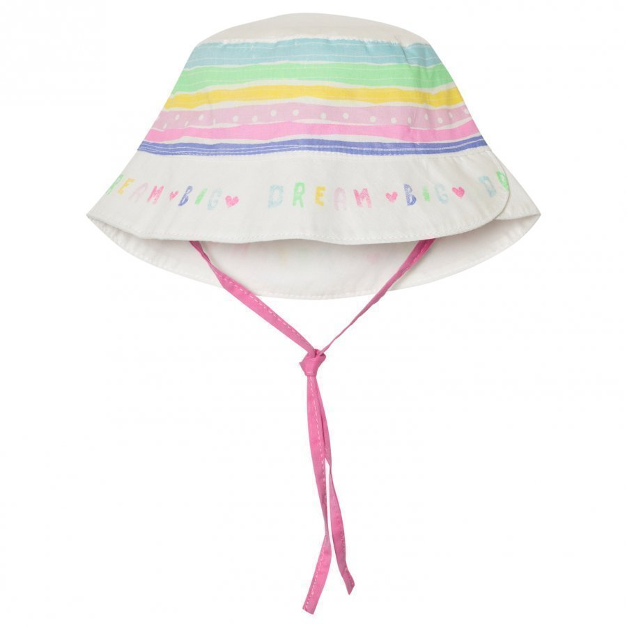 United Colors Of Benetton Rainbow Stripe Sun Hat White Aurinkohattu