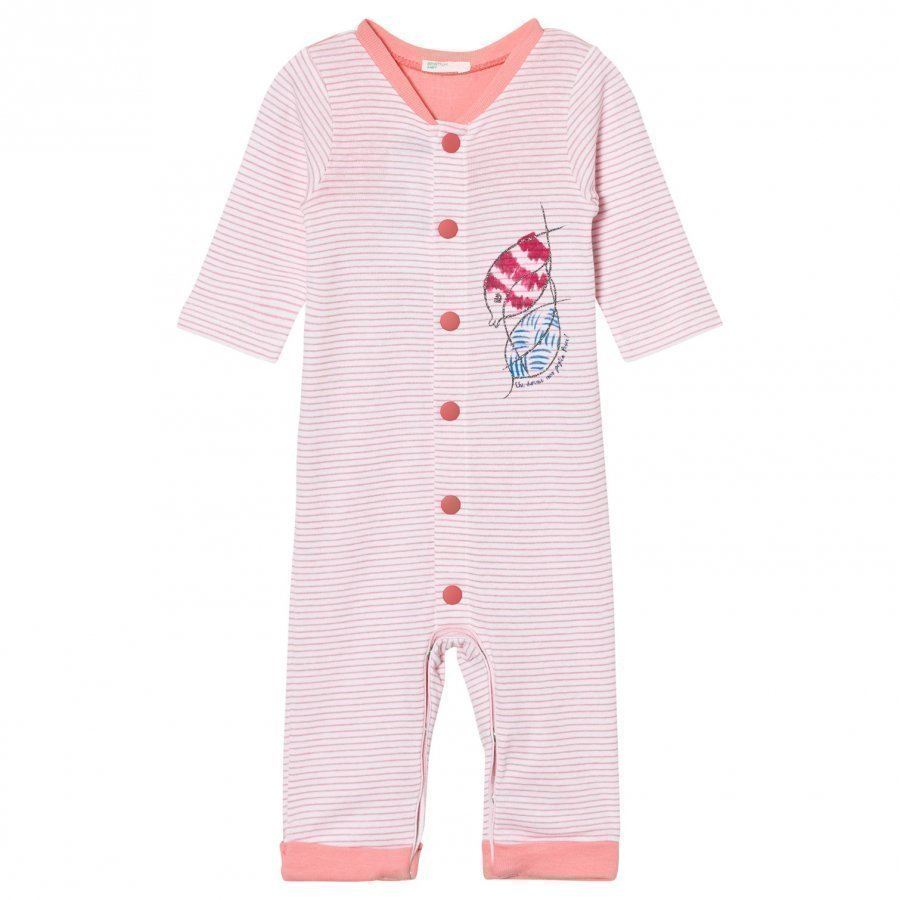 United Colors Of Benetton Striped Pyjamas Sea Life Print Pink Yöpuku