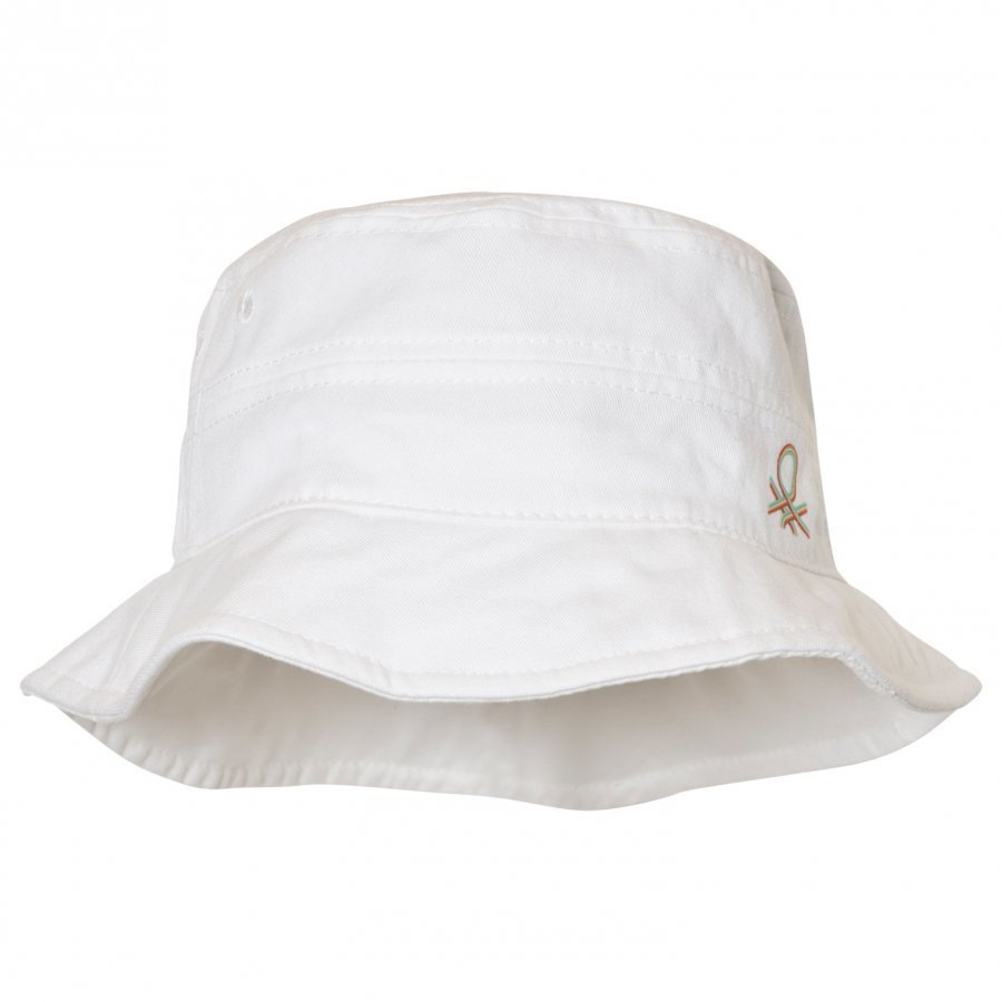 United Colors Of Benetton White Cotton Sun Hat Aurinkohattu
