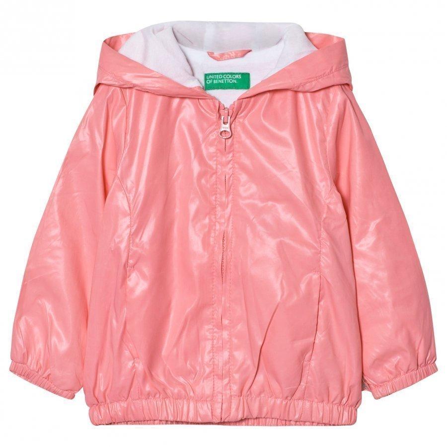 United Colors Of Benetton Zip Hooded Jacket Candy Pink Sadetakki