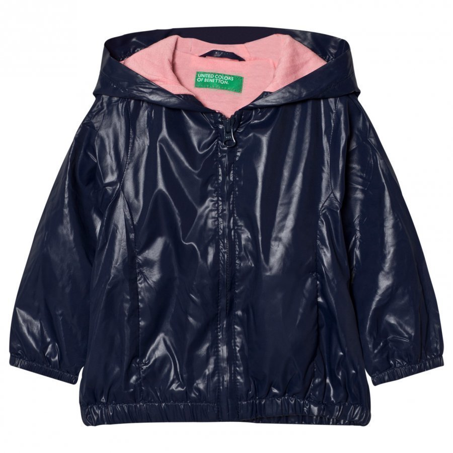 United Colors Of Benetton Zip Hooded Jacket Navy Sadetakki