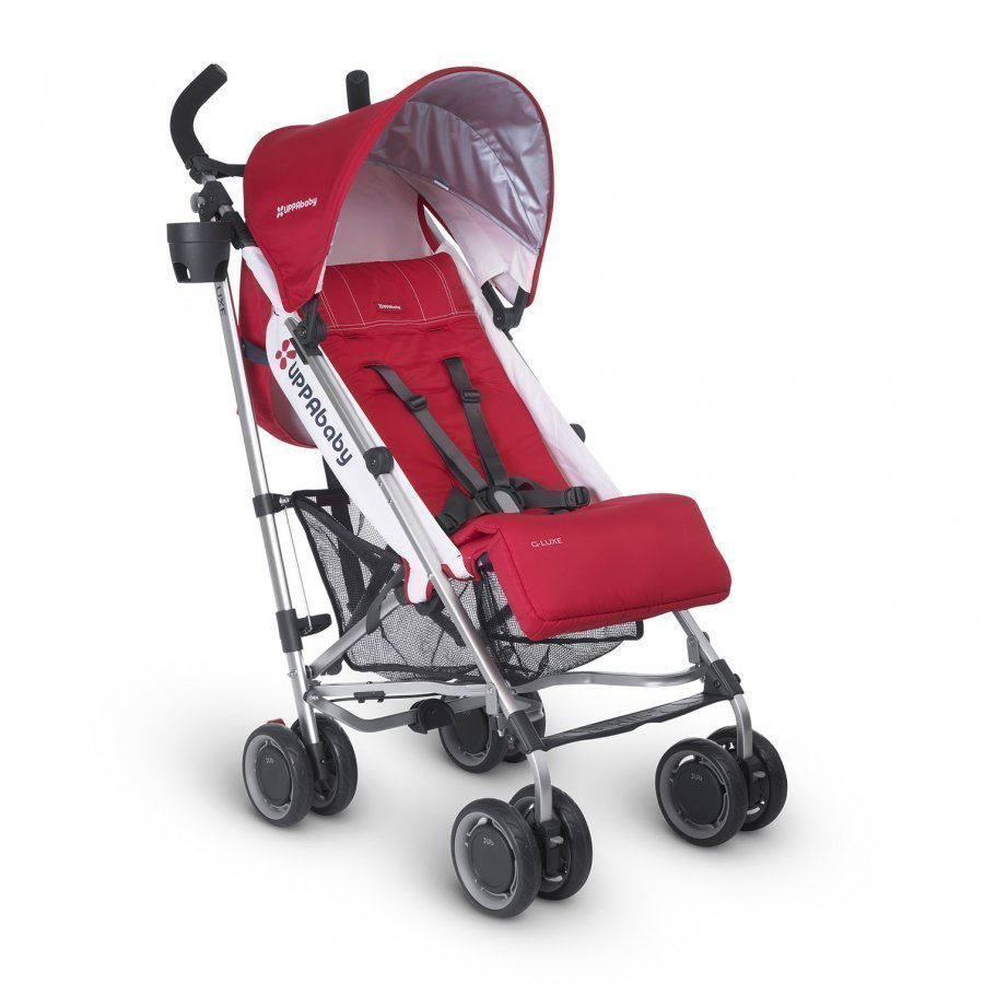 Uppababy G-Luxe Stroller Denny Red Sateenvarjorattaat
