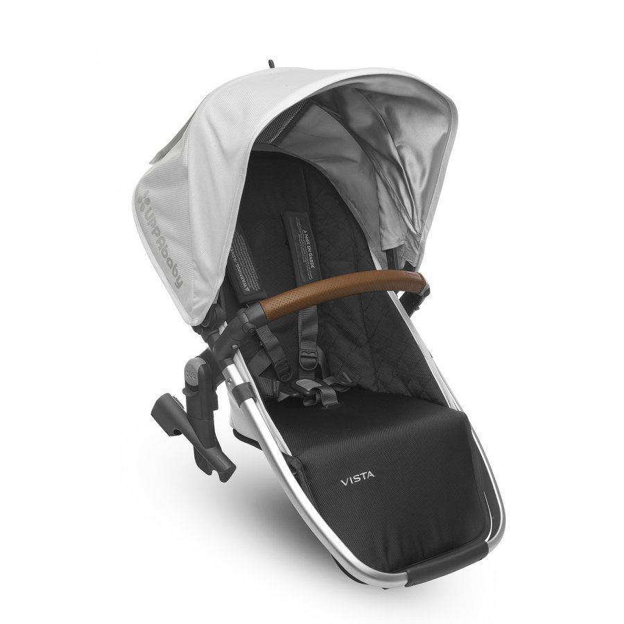 Uppababy Vista Rumble Seat Loic White Silver Frame With Leather Istuin