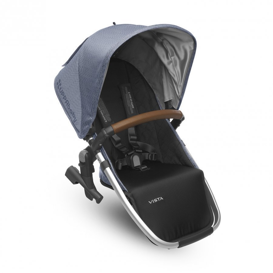 Uppababy Vista Rumbleseat Henry Blue Marl Silver Frame With Leather Istuin