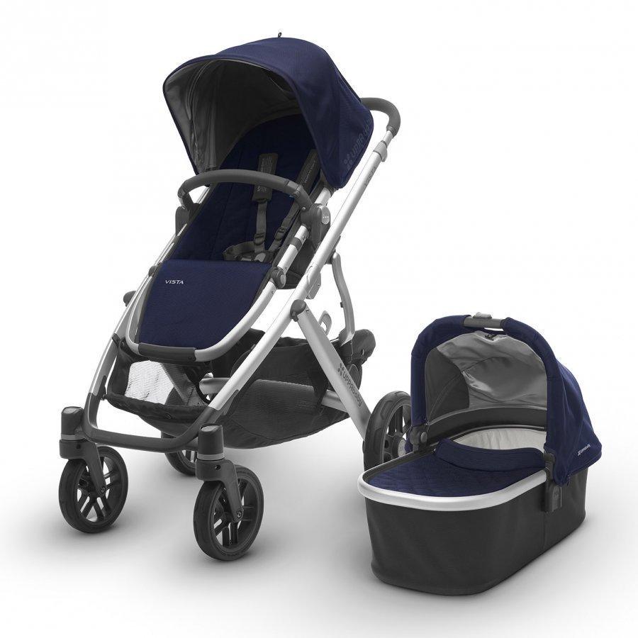 Uppababy Vista Stroller Taylor Indigo -Silver Frame Sisarusrattaat