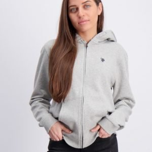 Us Polo Core Fleece Zip Hoody Huppari Harmaa