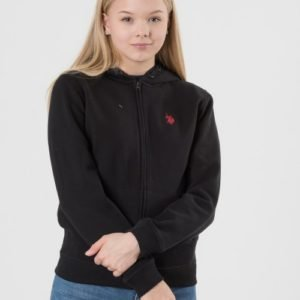 Us Polo Core Fleece Zip Hoody Huppari Musta