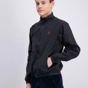 Us Polo Core Funnel Neck Jacket Takki Musta