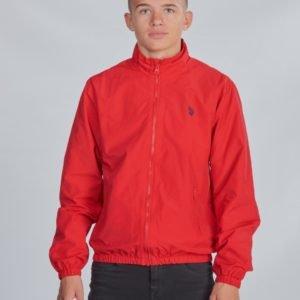 Us Polo Core Funnel Neck Jacket Takki Punainen