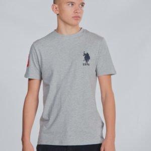 Us Polo Large Dhm T Shirt T-Paita Harmaa