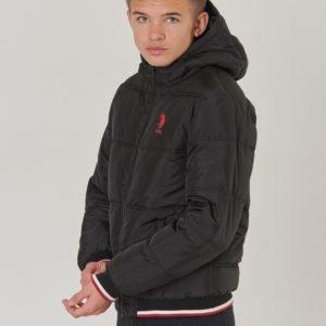 Us Polo Sun Valley Puffer Jacket Takki Musta