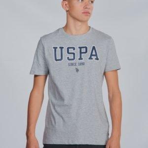 Us Polo Uspa T Shirt Vintage T-Paita Harmaa