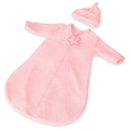 Vaaleanpunainen Dreamsie Pitkähihainen unipussi ja myssy