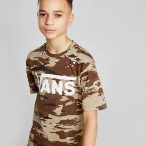 Vans All Over Print T-Shirt Ruskea