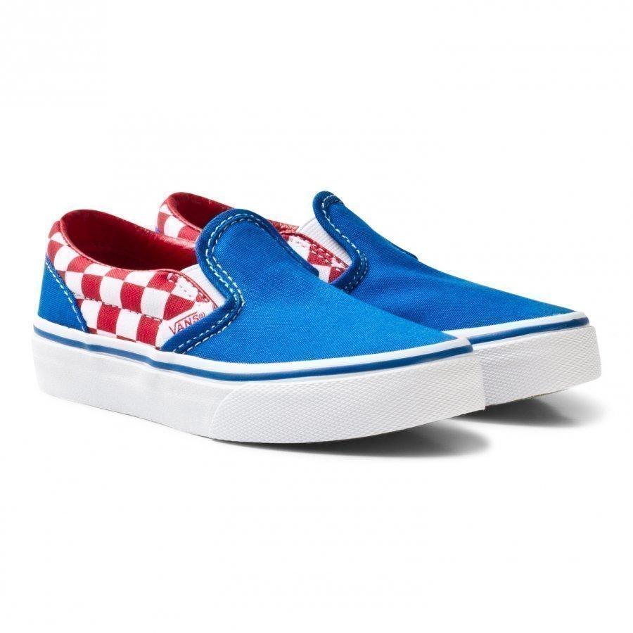 Vans Blue And Red Checkerboard Classic Slip On Lenkkarit