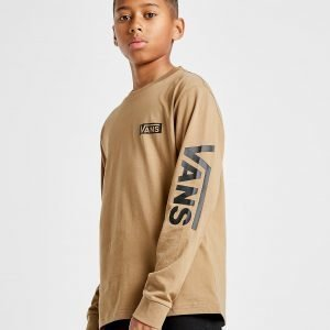 Vans Long Sleeve Logo T-Shirt Ruskea