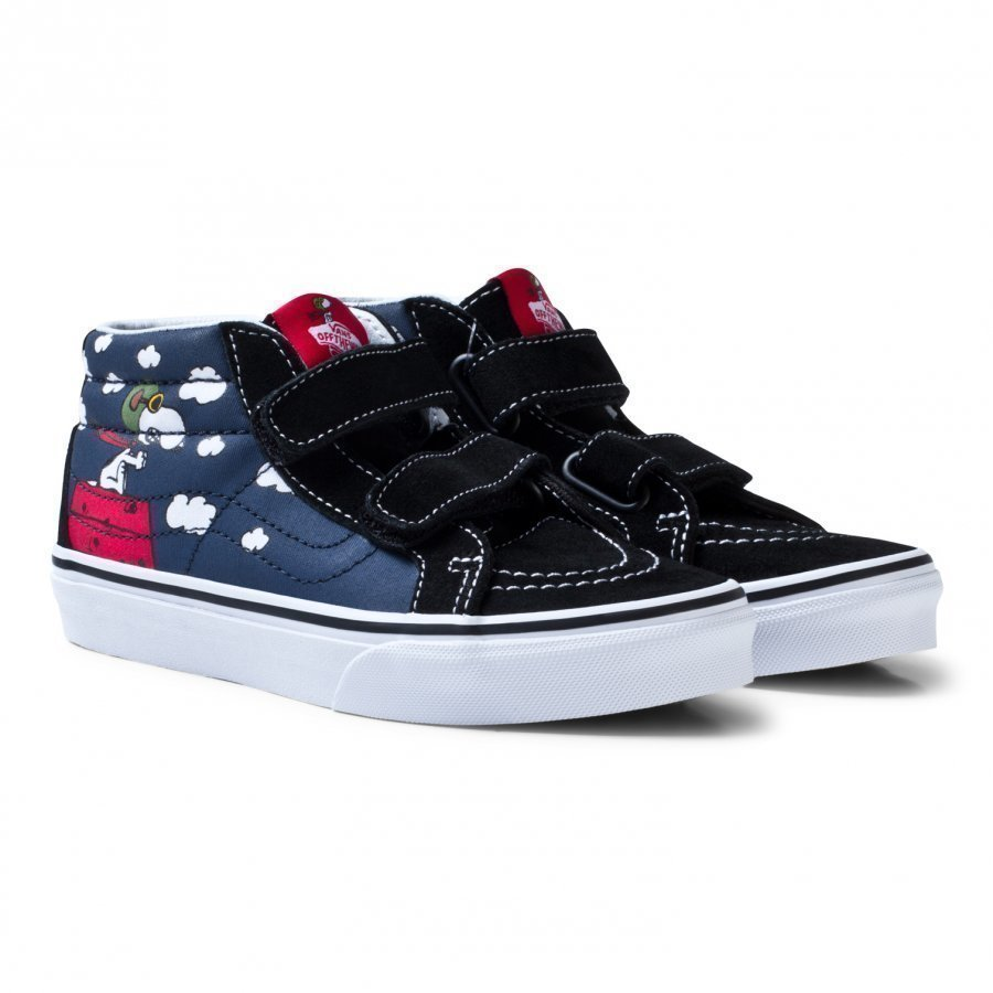 Vans X Peanuts Sk8-Mid Reissue Shoes Ink Blue Klassiset Kengät