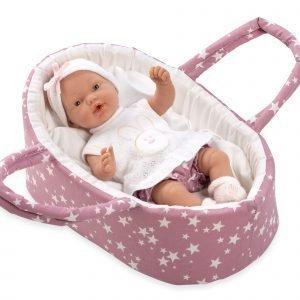 Vauvanukke 25 Cm Pehmeässä Kantokassissa
