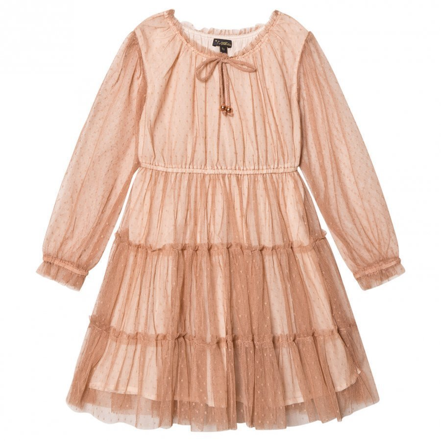 Velveteen Corinne Tiered Dress Cinnamon Juhlamekko