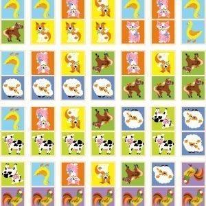 Viga Toys Domino Eläimet 28-Osainen