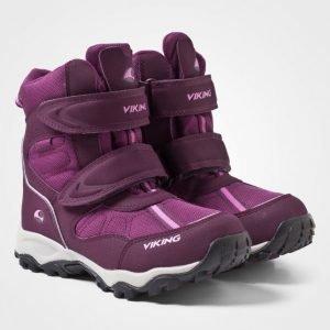 Viking Bluster Boots Aubergine/Plum Talvisaappaat