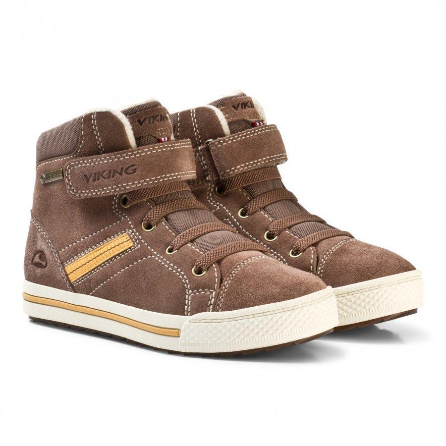 Viking Eagle Iii Gtx Sneaker Taupe/Mustard Klassiset Kengät