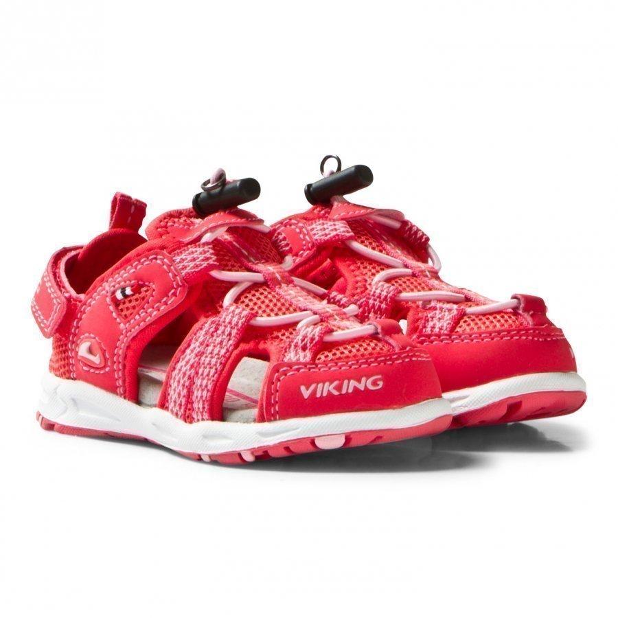 Viking Loke Sandals Dark Pink/Coral Remmisandaalit