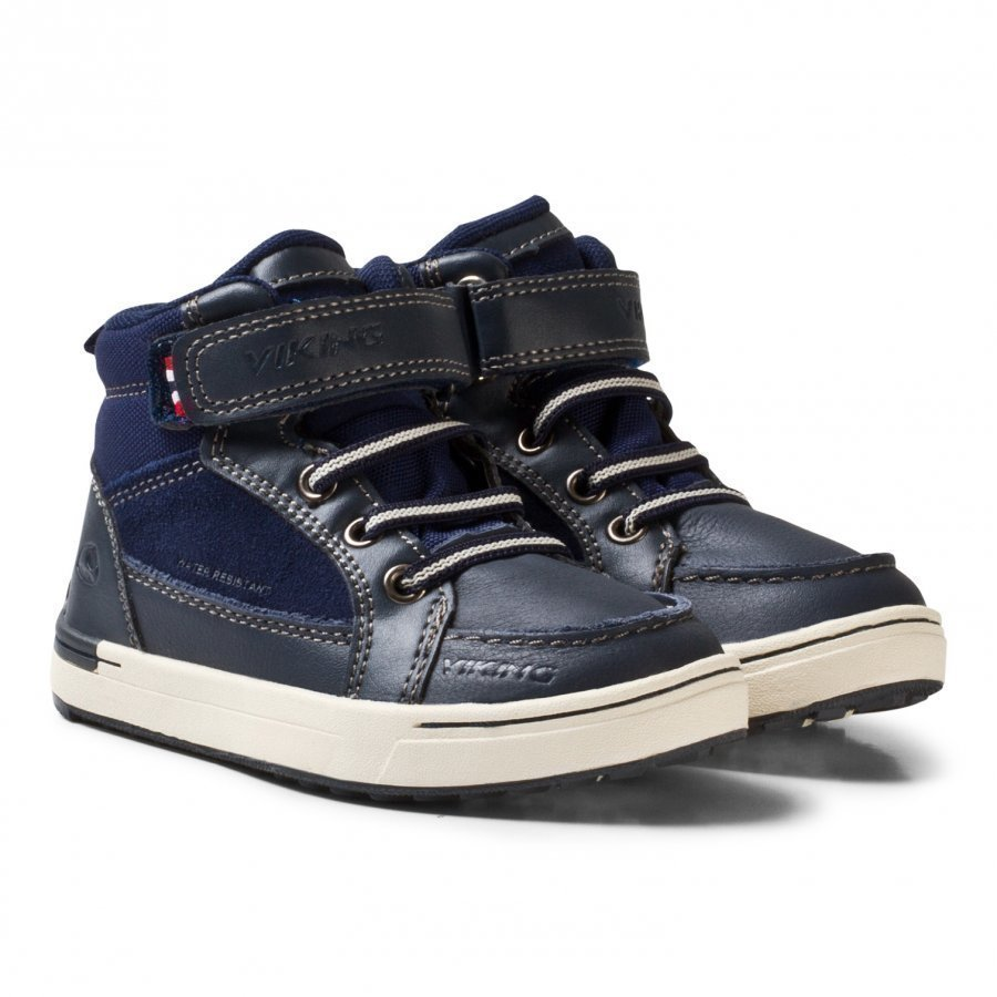 Viking Moss Mid Kds Navy/Multi Nilkkurit