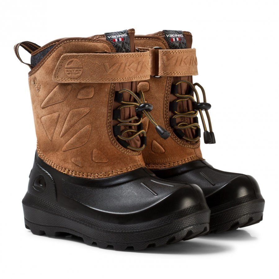Viking Nordlys Suede Thermo Boots Mustard/Black Talvisaappaat