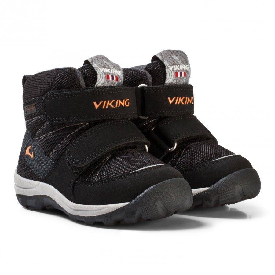 Viking Rissa Gtx Shoes Black/Orange Talvisaappaat