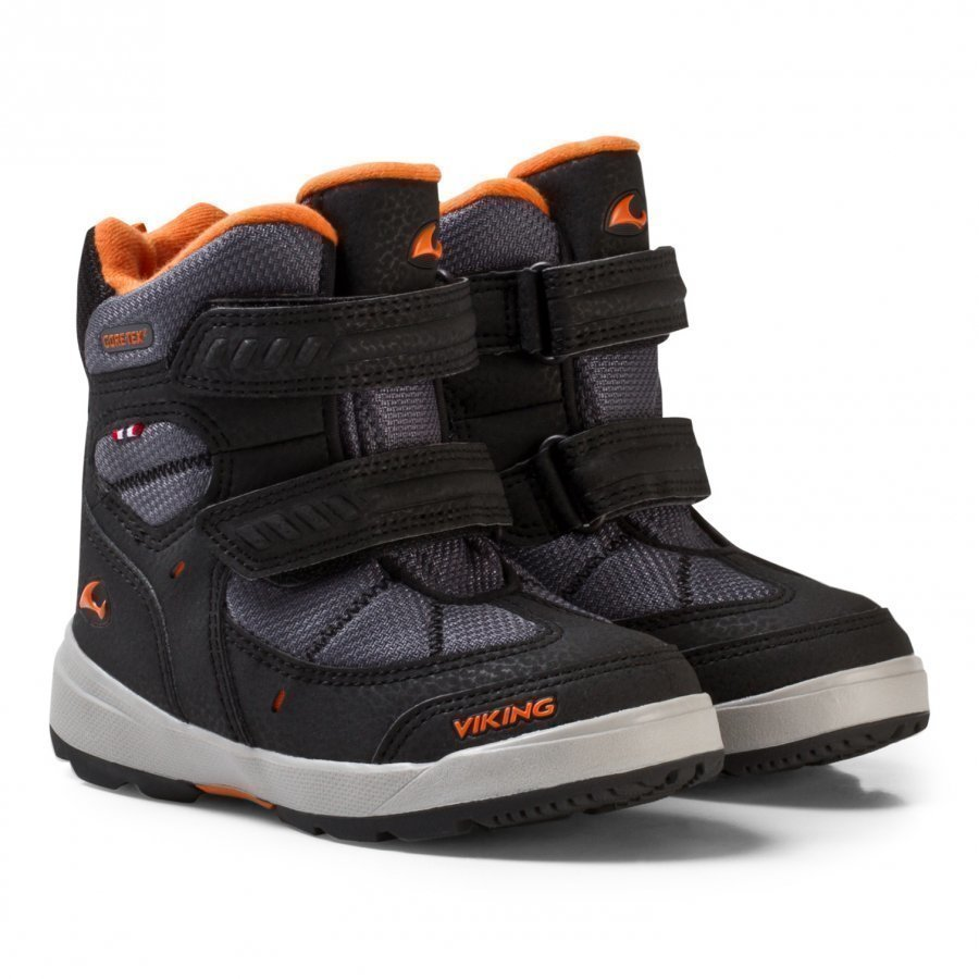 Viking Toasty Ii Gtx Boots Black/Orange Klassiset Kengät