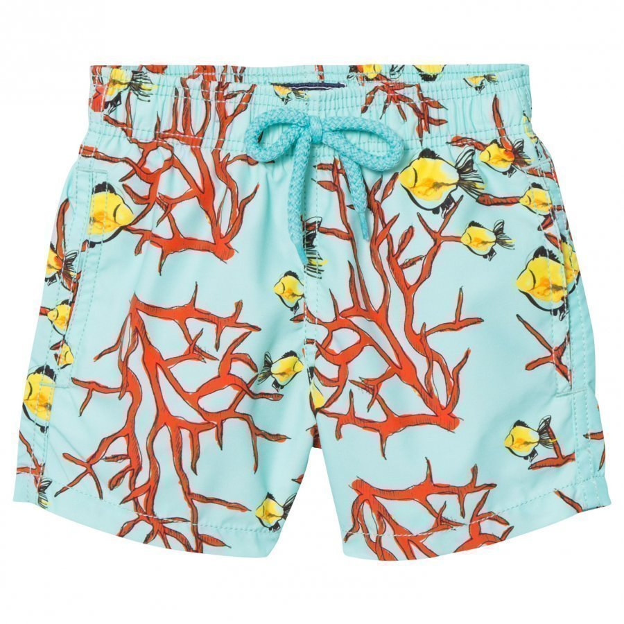 Vilebrequin Blue Coral And Fish Sea Print Swimming Trunks Uimahousut