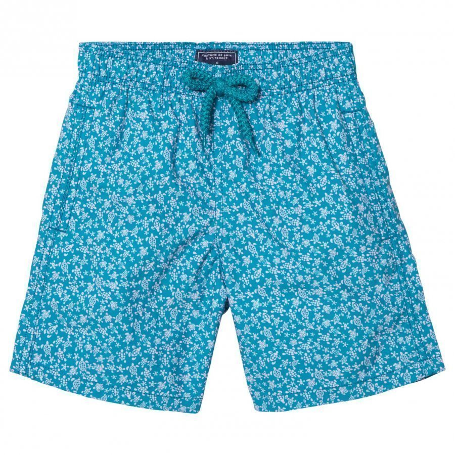Vilebrequin Blue Mini Lue Turtle Print Swimming Trunks Uimahousut