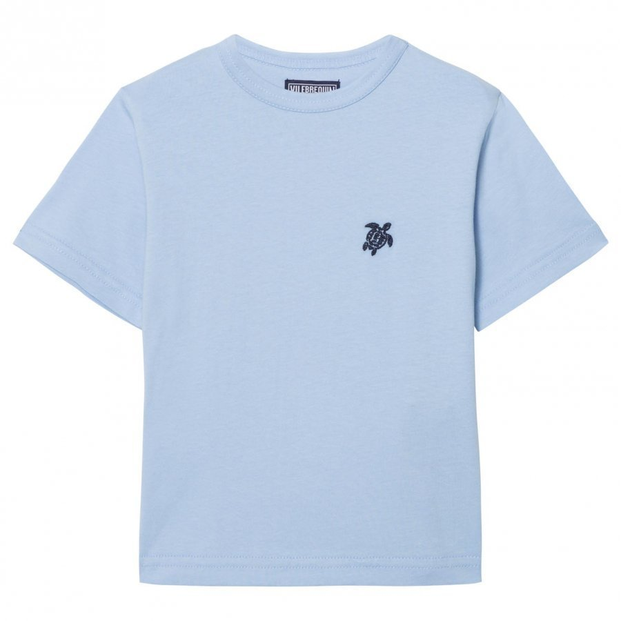 Vilebrequin Blue Turtle Embroidered Tee T-Paita