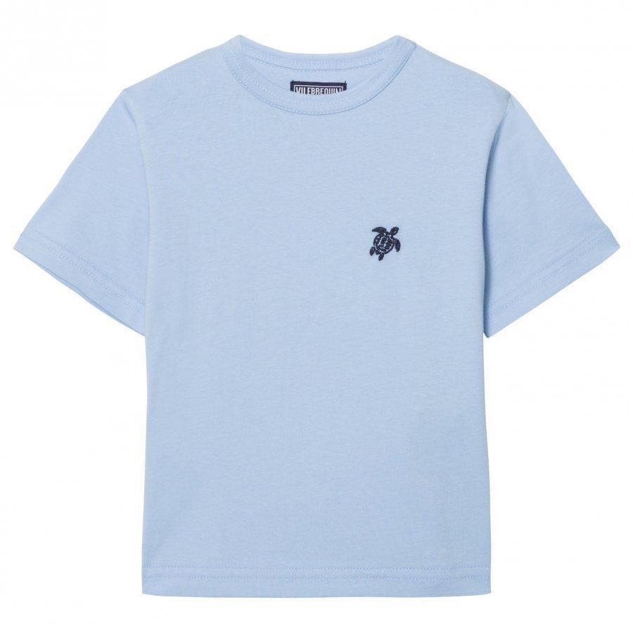 Vilebrequin Blue Turtle Embroidered Tee T-Paita
