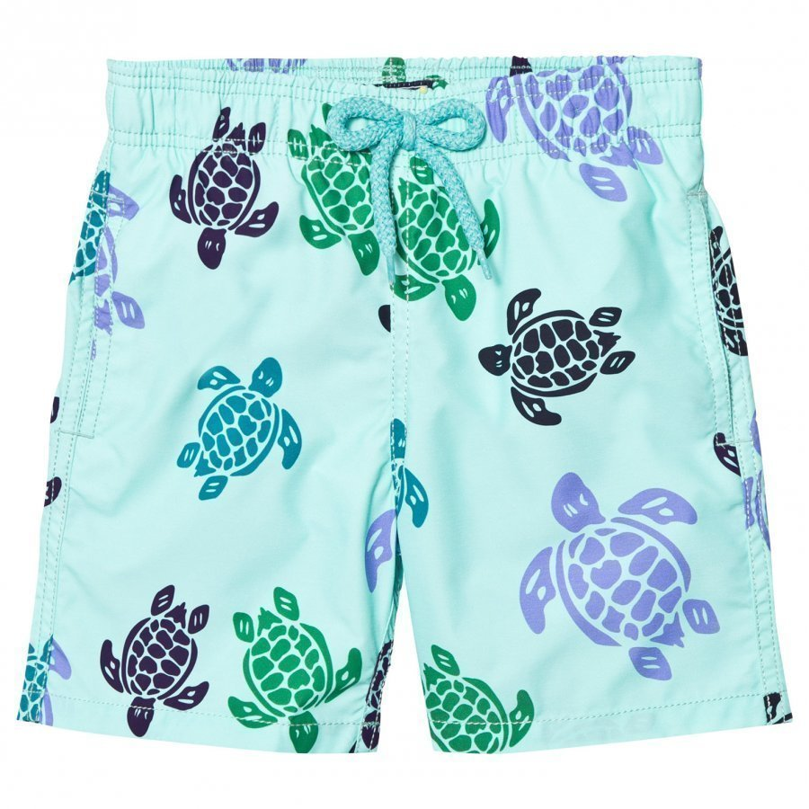 Vilebrequin Mint Green Multi Colour Turtle Trunk Uimahousut