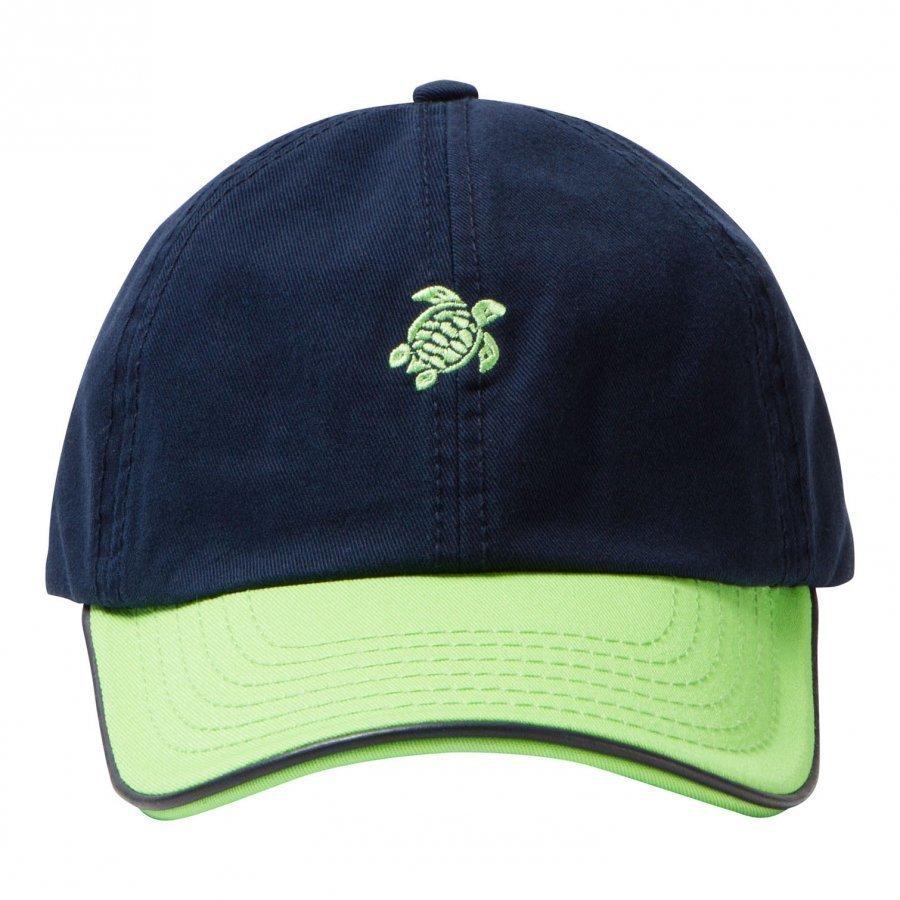 Vilebrequin Navy Green Turtle Cap Lippis