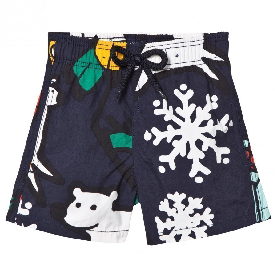 Vilebrequin Navy Print Swimming Trunks Uimahousut