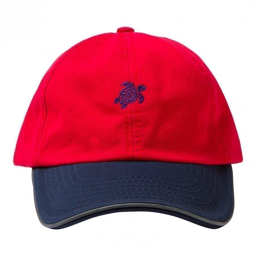 Vilebrequin Red Turtle Cap Lippis