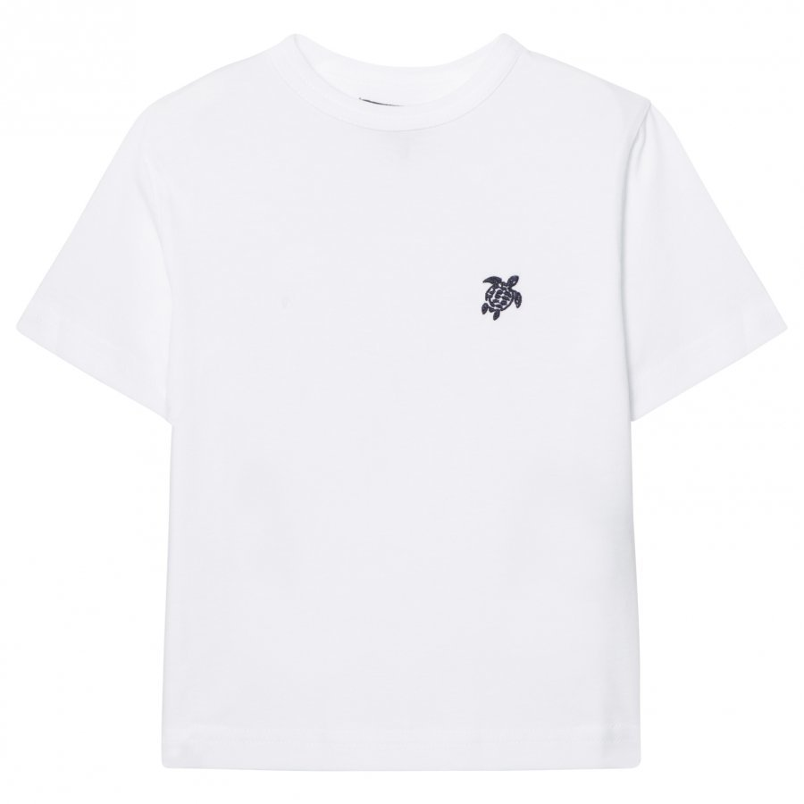 Vilebrequin White Turtle Embroidered Tee T-Paita