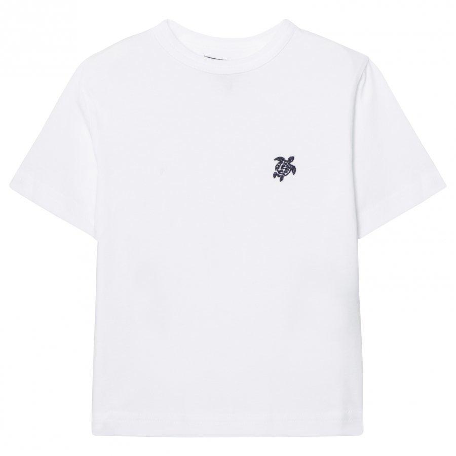 Vilebrequin White Turtle Embroidered Tee T-Paita