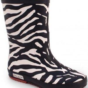 Vincent Kumisaappaat Zebra Black